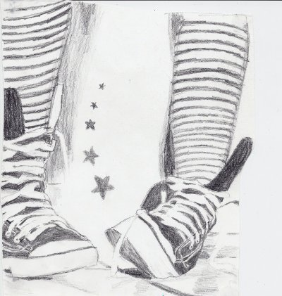 chaussures dessin converses