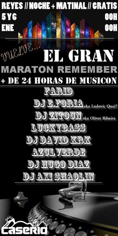 EL GRAN MARATON REMEMBER @CASERIO