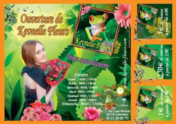 ouverture de votre fleuristerie Kevnelle fleurs