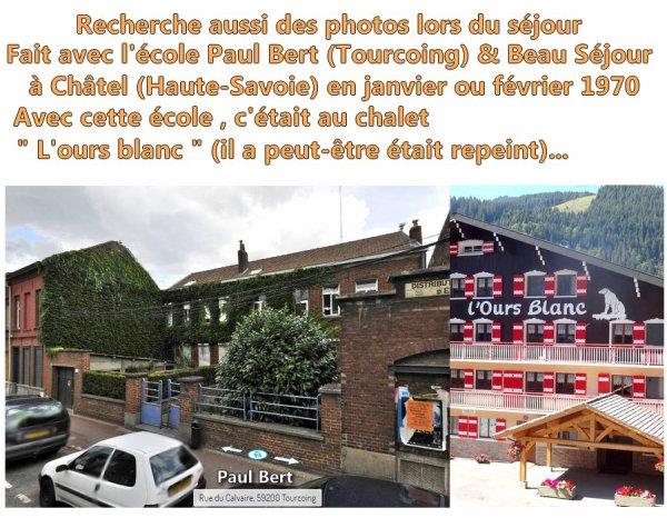 ANNONCE ::: RECHERCHES PHOTOS DE CLASSE TOURCOING. (voir article ci-dessous).