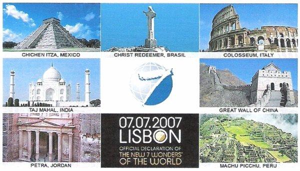 Les 7 merveilles du monde actuel au 07/07/2007