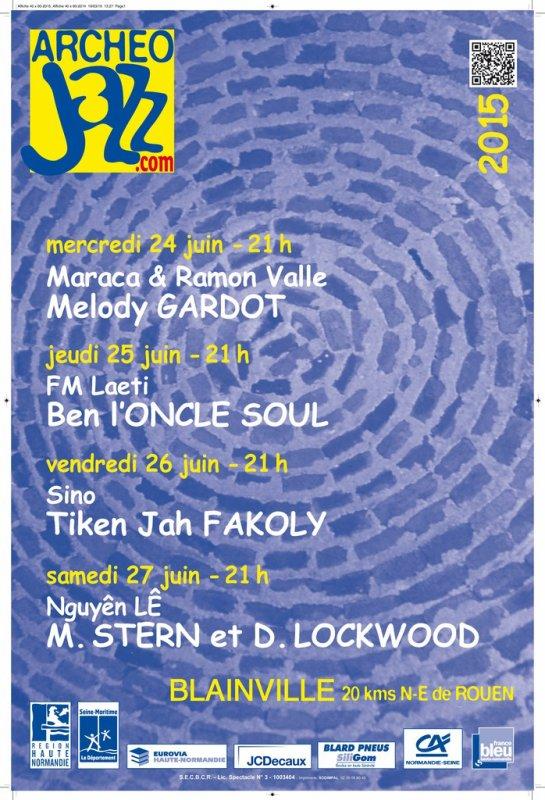 Mike Stern & Didier Lockwood, Archeo Jazz, Blainville Crevon, 27 Juin 2015