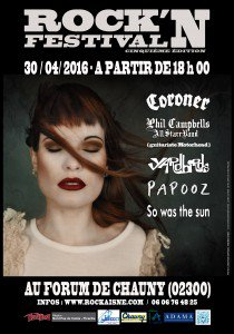 Rock N Festival, Forum de Chauny, 30 Avril 2016