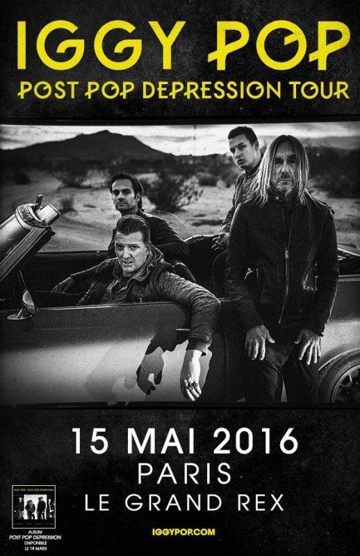Iggy Pop, 15 Mai 2016, Grand Rex, Paris.
