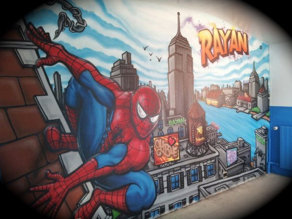 Chambre graffiti spiderman blog de decorationgraffiti for Decoration chambre spiderman