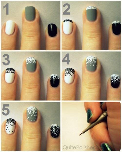 photo nail art etape par etape