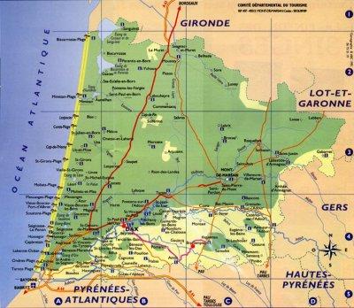 Info • plages landes carte • Voyages - Cartes