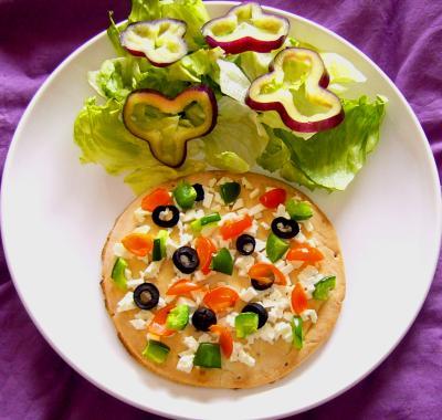 Plat v g tarien pizza la grecque cuisine - Plat rapide et facile ...