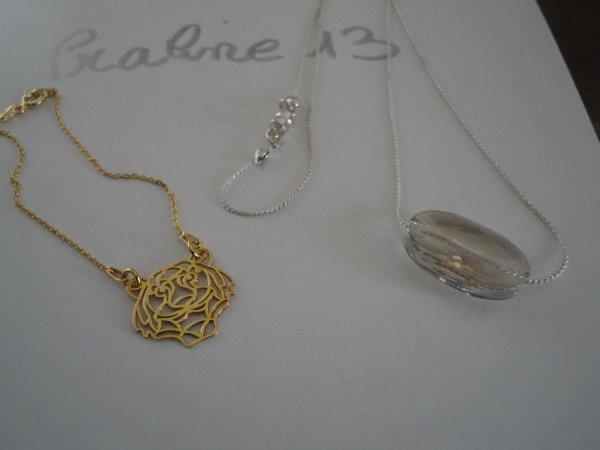 voici les cadeaux que j'ai offerts � mes cousines st�phanoises....en crystal et plaqu� or...