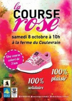 Samedi 08 octobre 2016- la première à Savigny le temple COLOR RUN ROSE !!