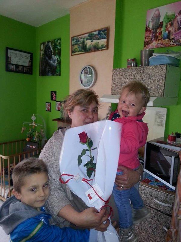 voici mon fils  mes fille et mes petit enfants jour fete de mere j etai gat�