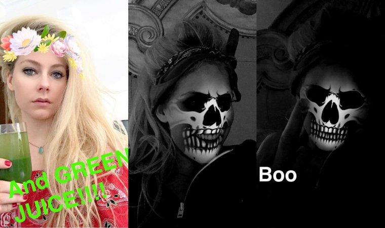 Avril Lavigne accro à Snapchat !