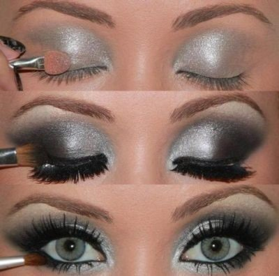 Photo maquillage yeux marrons verts cheveux chatains