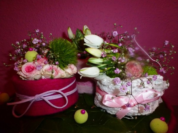 Une composition romantique tout en rose