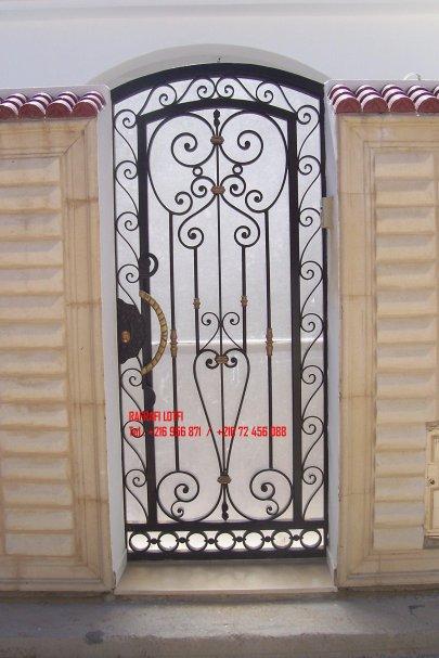 Le fer forge en tunisie for Les portes fer forge
