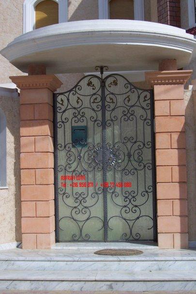 Portail fer forg 55 harmonie de fer forg tunisien for Porte fer forge en tunisie