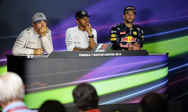 Quand Hamilton interpelle Rosberg en conf�rence de presse