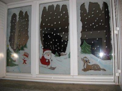 Fen tres sur le th me hiver et no l 4 d fi osada mon - Decoration de noel pour fenetre ...