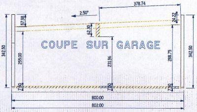 Et pour finir le plan de coupe sur garage maison for Faire un plan de garage