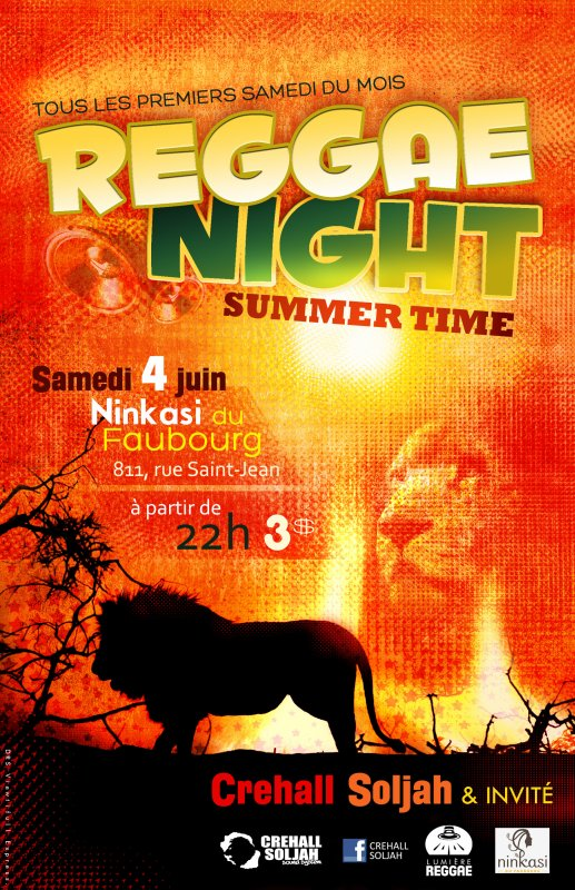 SAMEDI 04 JUIN 2011 - REGGAE NIGHT @ LA NINKASI