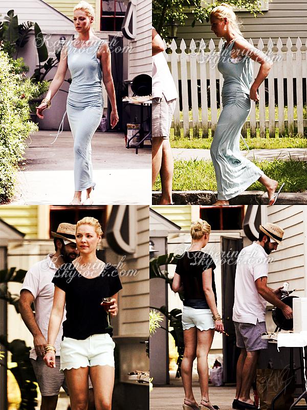 31 Mai - Katherine vêtue d'une maxi dress est allée faire des courses à Whole Foods. Plus tard elle a été repérée avec Josh dans leur domicile temporaire en Louisianne.