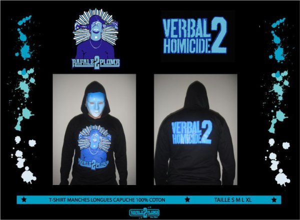 Collection RAFALE 2 PLOMB Hiver 2010 Tee shirt manche longue a capuche !!
