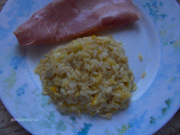 riz au safran et courgettes facon risotto pour 4 personnes 6 pp blog de kakonww. Black Bedroom Furniture Sets. Home Design Ideas