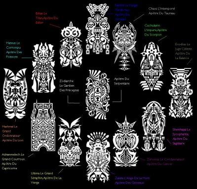 les 13 signes des ap tres du zodiaque blog de saintseiya fanfic45. Black Bedroom Furniture Sets. Home Design Ideas