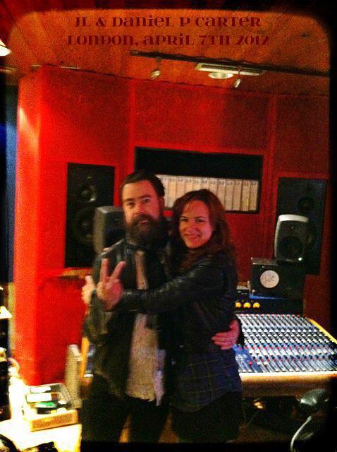 JL en studios à Londres avec Daniel P. Carter - 7 avril 2012