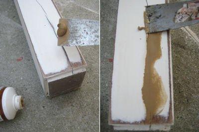 Rénover : utiliser la pâte à bois