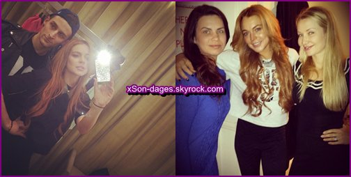 ♥ 12/01/14 et 14/01/14 : Lindsay dans les rues de Londres + Quelques photos personnelles de Lindsay  ♥