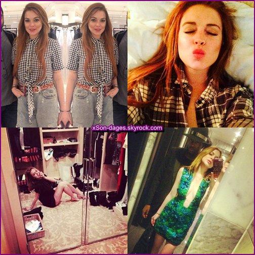 ♥ 14/05/14 : Lindsay dans une boutique à Londres puis allant à son hôtel + Quelques photos personnelles de Lindsay + News  ♥