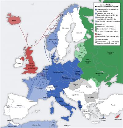 La deuxi�me guerre mondiale ? Bref r�sum�