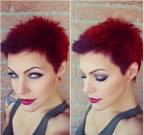 couleur rouge et coupe courte - Blog de Missy-Minion
