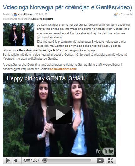 Falenderoj kosovalbaner.com per postimin e videos dhe per tekstin :)