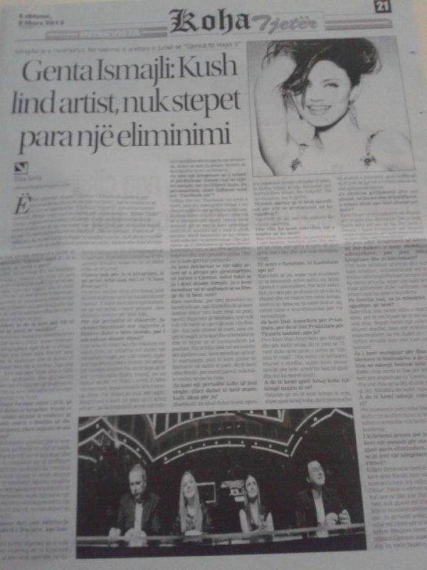 Genta Ismajli: Kush lind artist, nuk stepet para nje eliminimi