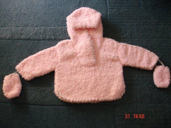 pull � capuche en laine toute douce