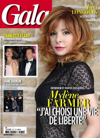 Mylène à la une de Gala le 24/12/13 : Interview Exclusive !! ♥
