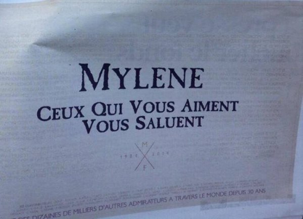 Ce mois ci, Myl�ne Farmer f�te ses 30 ans de carri�re !