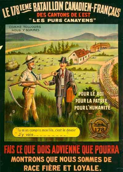 Le Recrutement au Canada fran�ais durant la Premi�re Guerre mondiale