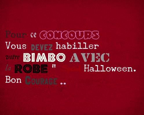 "#Concours "" Robe Sp�cial D'halloween """