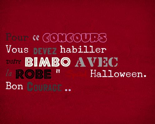 "#Concours "" Robe Spécial D'halloween """