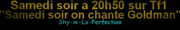 Shy'm, Pascal Obispo, Lorie : Ensemble pour un hommage � Jean-Jacques Goldman[ article en retard d�sol�]