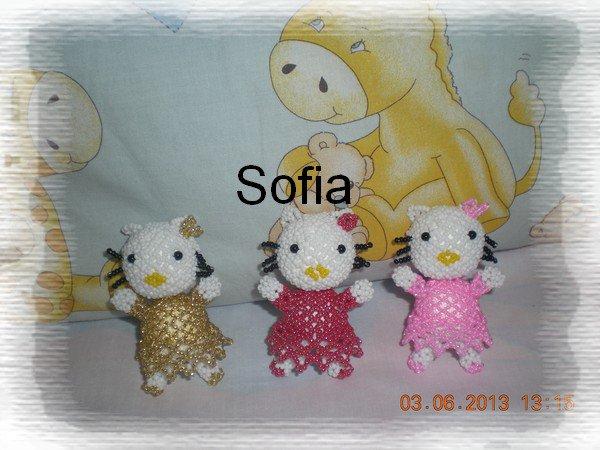 Une création perso figurine d'Hello Kitty de 8 cm