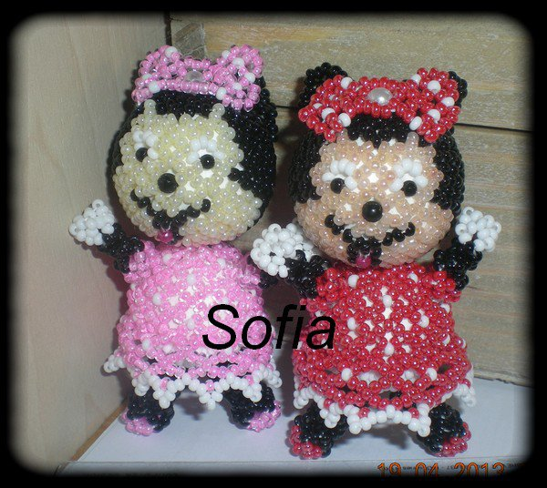 Une cr�ation perso, personnage Minnie 8cm