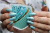 Superposition-test: vernis Colada Fizz de chez Revlon sur vernis N�96 Party Blue de chez Colorama (l) (l)