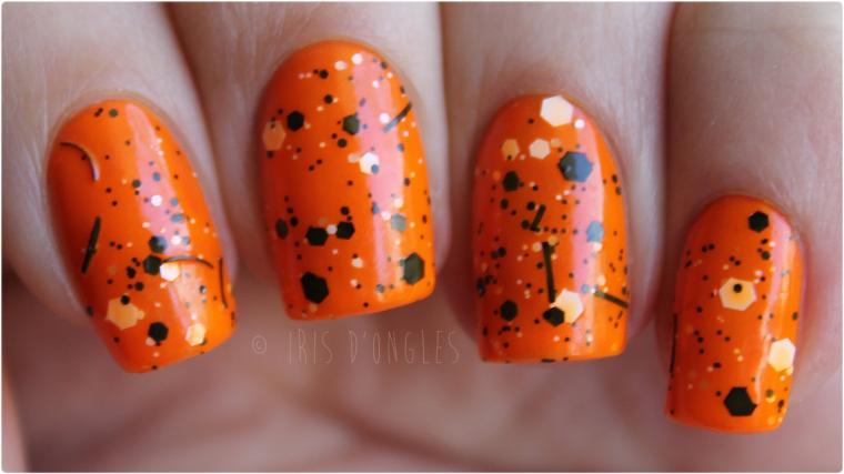 Test: vernis N°66888 Splatter Orange de chez Claire's (Splatter Effect / Effet Éclaboussures) ! (l) (l)