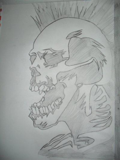dessin tete de mort