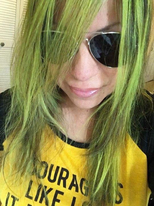 Yellow hair highlights