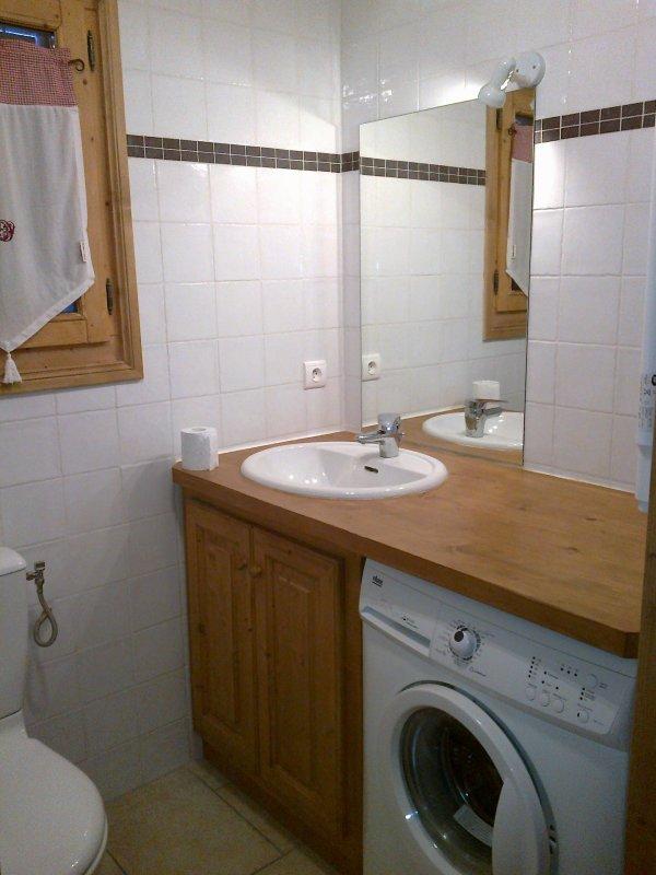 La salle de bain chalet marie c02 louer t comme for Wc dans salle de bain